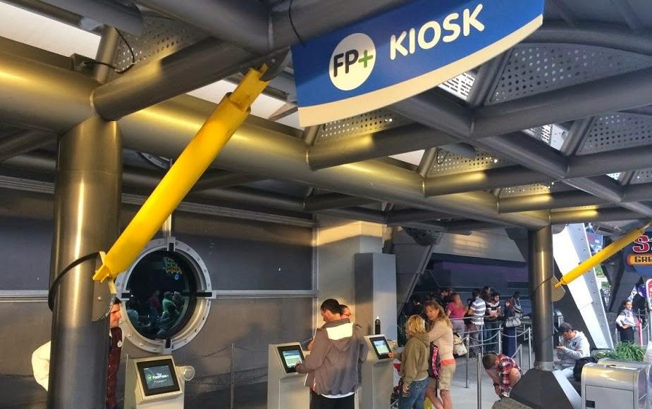 Punto de FastPass en los parques de Disney