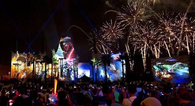 El Show de los fuegos artificiales de Star Wars en Hollywood Studios