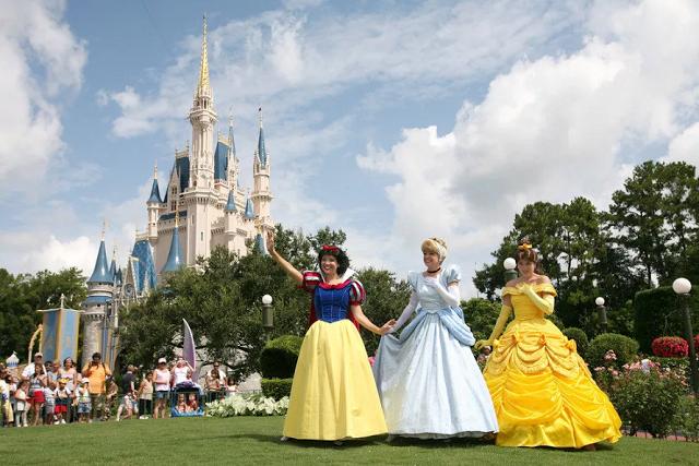 Princesas en Parque Disney Magic Kingdom en Orlando
