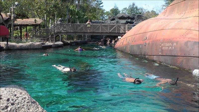 Shark Reef en el Typhoon Lagoon en Orlando