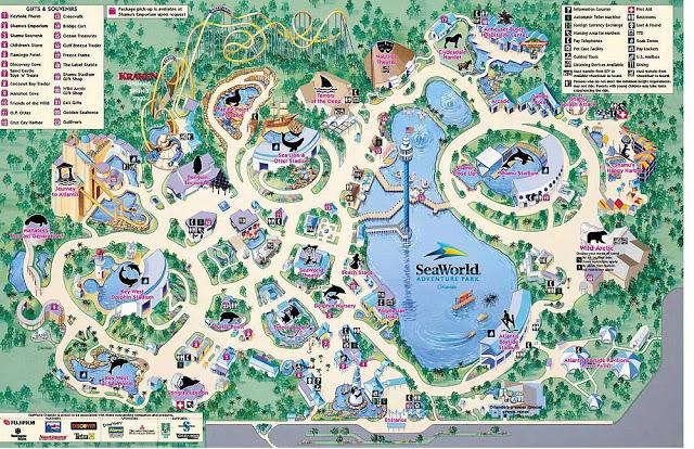 Mapa de Parque Sea World en Orlando