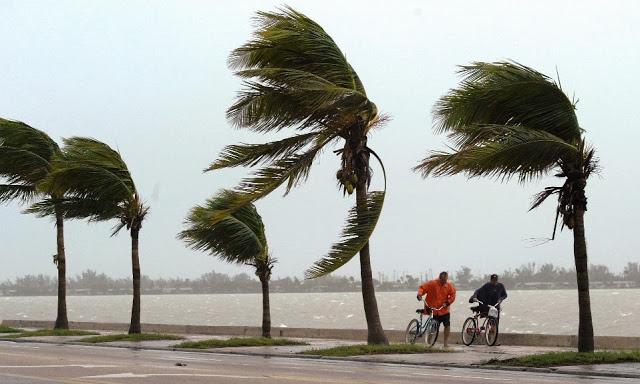 Fuerte vento en Miami