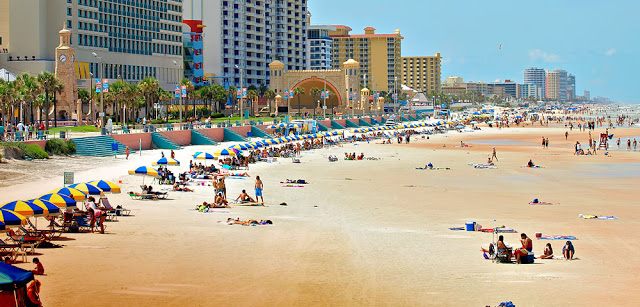 Playa de Daytona Beach en Florida