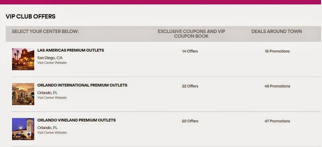 Cupones de descuento de los Outlets Premium Orlando - cupón