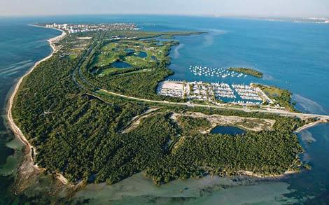 VIsion del Parque natural Bill Baggs en Key Biscayne