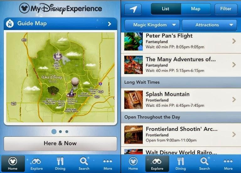 Aplicación de Disney World Orlando: atracciones